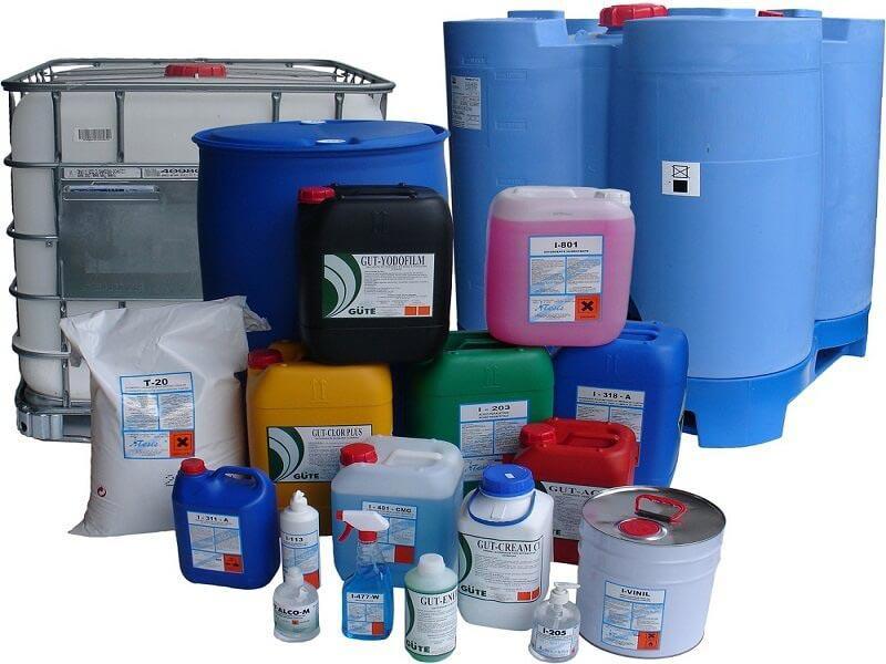 Các loại dung dịch tẩy vệ sinh công nghiệp