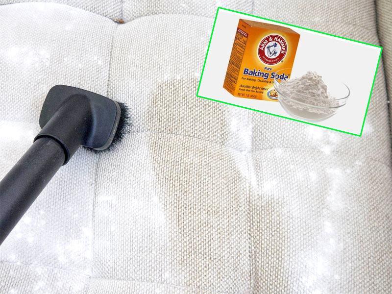 Cách giặt ghế sofa bằng baking soda